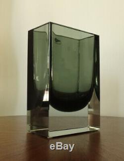1963 NUUTAJARVI NUTSJO Art Glass Vase KAJ FRANCK Finland KF 262-MCM-EX