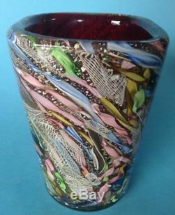 2von4 Art Glass Vase AVEM Murano Glas Aureliano Toso Murano Dino Martens 1955