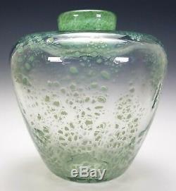 A. D. Copier Unica Leerdam Antique Dutch Art Deco Modernist Glass Vase