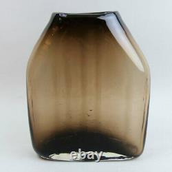 A Scarce Whitefriars Baxter Design Cinnamon Art Glass Shoulder Vase