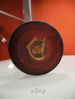 ANTIQUE 1900s EMILE GALLE ART NOUVEAU ART GLASS CAMEO VASE SIGNED