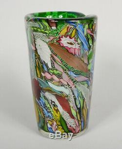 AVEM Tutti Frutti Vase Mid Century Murano Art Glass