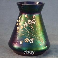 Antique Art Nouveau Iridescent Glass Vase attributed to Loetz circa 1910