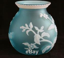 Antique English Carved Cameo Art Glass Vase c. 1900 attributed Thomas Webb & Sons