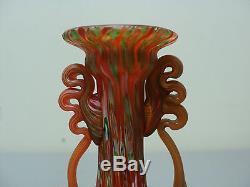 Antique Fratelli Toso Murano Millefiori Roman Style Miniature Art Glass Vase