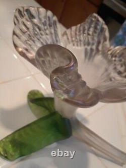 Antique Kralik Art Nouveau Iridescent Floriform Glass Vase Bohemian Czech