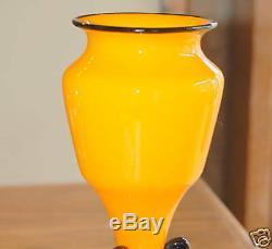 Antique Loetz 10 in. Signed Art Glass Vase c. 1920