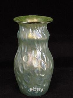 Antique Loetz Bohemian Art Glass Miniature 4 Diaspora Vase Diaspora