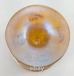 Antique Louis Comfort Tiffany & Co Favrile Aurene Iridescent Art Glass Cup Vase