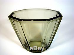 Art Déco Glas Vase, Art Glass ELIS BERGH for Kosta Glasswork Sweden 1930´s signed