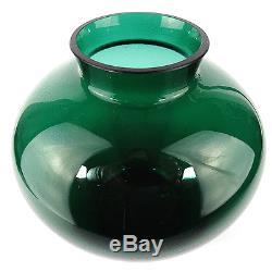 Art Déco Glas Vase H. 19,5 cm Wilhelm Wagenfeld VLG Glass 30er Jahre Bauhaus