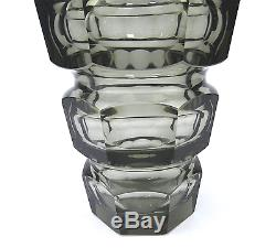 Art Déco Glas Vase Josef Hoffmann für Moser Czech Glass Czechoslovakia um 1930