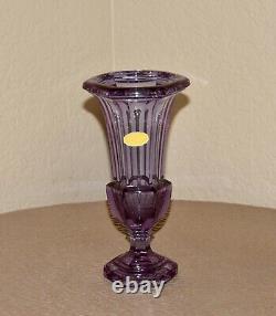 Art Deco Moser Alexandrite Neodymium Crystal Trumpet Art Glass Vase