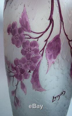 Art Nouveau 1910 Legras Monumental Vase Table Lamp