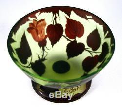 Art Nouveau Cameo Glass Vase Signed Loetz