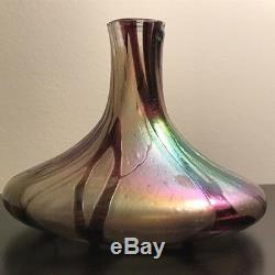 Art Nouveau Loetz-style Phanomen Decorated Iridescent Vase