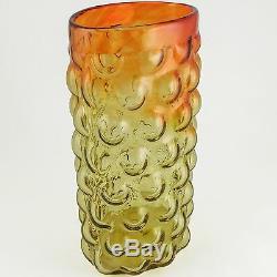 BLENKO Art Glass Amberina Bubble Vase by Iconic Designer Wayne Husted, c. 1960