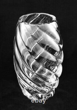 Beautiful 10 Baccarat Art Crystal Cyrille Spiral Flower Vase Excellent