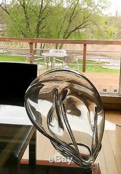 Beautiful John Bingham Modern Art Abstract Glass Sculpture Signed Vase
