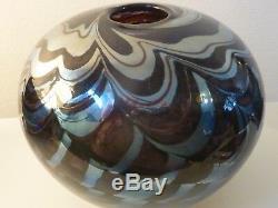 Beautiful Vintage Peter Layton Art Glass Vase stunning design 1987 rare item