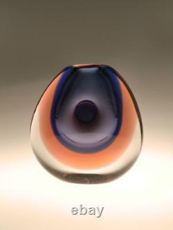 Bohemian Czech Art Glass Vase by Vladimir Mika for Moser Karlovarske Sklo