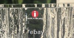 Brutalist Mid Century Modern Art Glass Vase Tapio Wirkkala for Iittala Finland