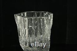 Brutalist Mid Century Modern Art Glass Vase Tapio Wirkkala for Littala Finland