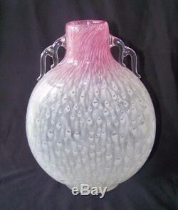 Circa 1920 F Carder Steuben'Cluthra' Rosaline Art Glass Vase # 6898