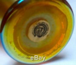 Classical L. C. Tiffany Gold Favrile Art Glass Iridescent Vase withGreat Color