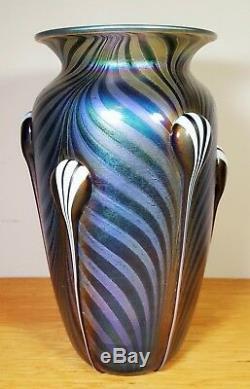 Czech Republic Hand Blown Art Glass Vase-Mint