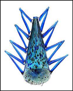 DALE CHIHULY Rare Original Venetian Vase Hand Blown Glass Signed Artwork Macchia