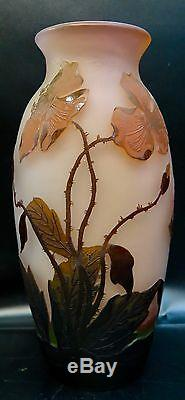 Early 20th Century German Cameo Art Glass Vase by Arsall