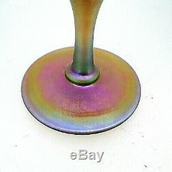 Early 20th Century Steuben Aurene Favrile Gold Iridescent Art Glass Stem Vase