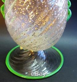 Early & Rare FRATELLI TOSO Italian Art Glass Vase c. 1930 antique Art Deco