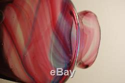 English Hartley Wood Arts Crafts Glass Art Nouveau Antique Hand Blown Vase MCM