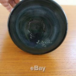 Erwin Eisch Unikat 1976 Große Glasvase Objekt 47cm E. Eisch Studioglas Art Glass