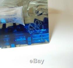 Exbor Novy Bor Ladislav Oliva Glas Art Glass Vase Czech 60s H 21 cm 2,1 Kg RAR
