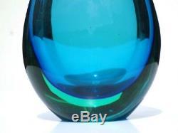 FLAVIO POLI sommerso glass vase murano seguso vetri d'arte 50s 60s