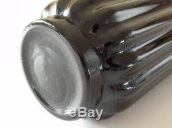 FOSTORIA George SAKIER Glass LOTUS Vase line No. 2428 Black Ebony Art Deco Eames