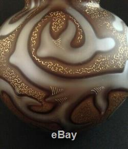 Federzeichnung Loetz Octopus Art Glass Vase Mother of Pearl Air Trap