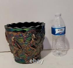 Fenton Art Glass Amythest Carnival Glass 6 1/2 Mermaid Planter Vase