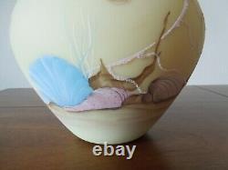 Fenton Art Glass Burmese Sea Life Vase Limited Edition, 1985