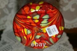 Fenton Art Glass Dave Fetty Swirl Mosaic HUGE Vase 13 7749 24 Limited NEW NIB