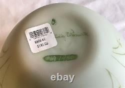 Fenton Art Glass Green Burmese Limited Edition Butterfly Vase