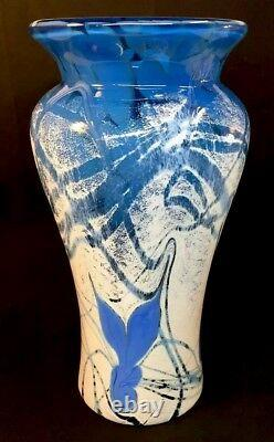 Fenton Art Glass Studio Art Glass By Frank Workman Wings Vase LIMITED