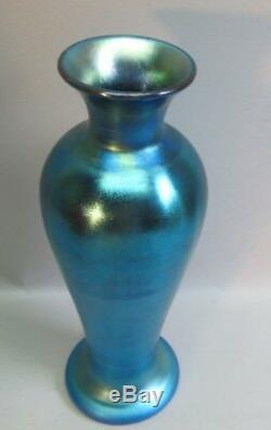 Fine 13 STEUBEN BLUE AURENE Art Glass Vase Shape 275 c. 1930s antique deco