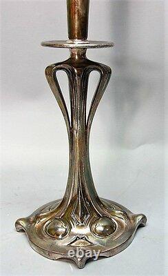 Fine 19 ART NOUVEAU BOHEMIAN Art Glass Trumpet Vase, likely Loetz c. 1910