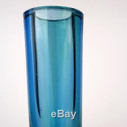 Flavio Poli Design Glas Vase, Seguso Vetri d´Arte, Murano Art Glass Italy 1950´s