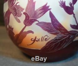 Galle Floral Cameo Art Glass Cabinet Vase