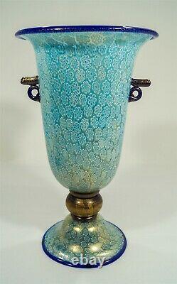 Gambaro & Poggi Murano Signed Monumental Millefiori Handled Pedestal Urn/Vase